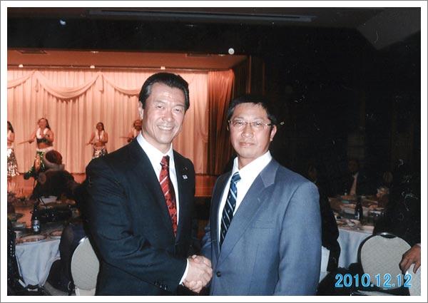 池上代表が20代の頃のトレーニング仲間だった、馬淵澄夫前国土交通大臣