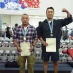 +74kg級 1位安良城朝浩122,5kg 2位唐澤仁 110kg