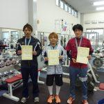 66kg級 1位 河野直樹 100kg 2位 矢澤政幸 75kg 3位 矢島圭悟 75kg