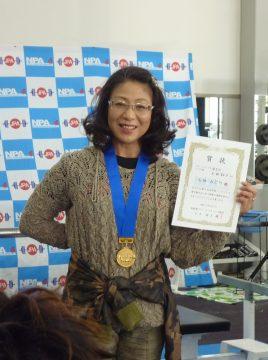 長野県ベンチプレス選手権大会 石田みどり選手 82.5kg 長野県新記録