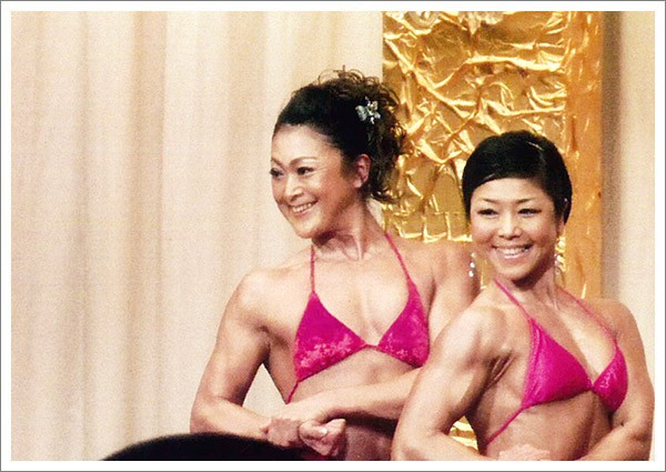 Ms,日本2位 清水恵理子選手によるポージング