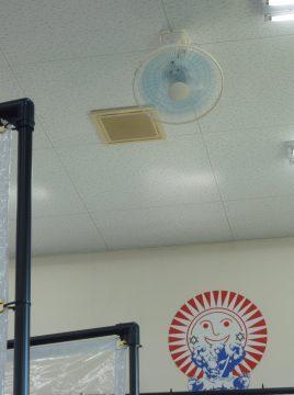 飛沫飛散防止パーテーション・熱中症対策扇風機 設置完了!